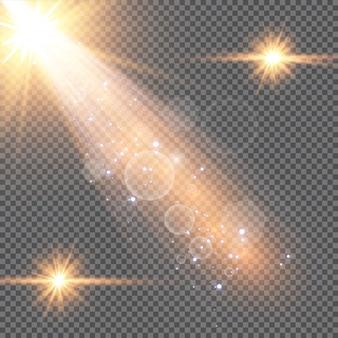 Прозрачный солнечный свет специальные линзы вспышки световой эффект