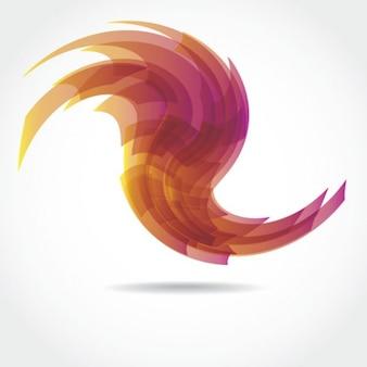 Transparent swirl stock vector element