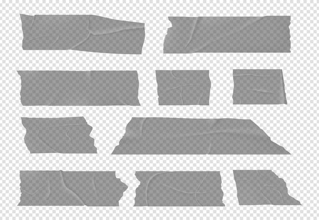 Прозрачный скотч. клейкие полосы, изолированный липкий скотч