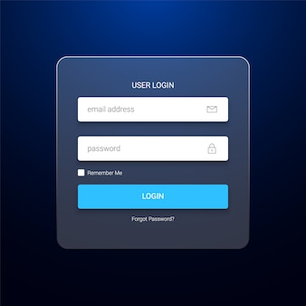 Transparent user login form template