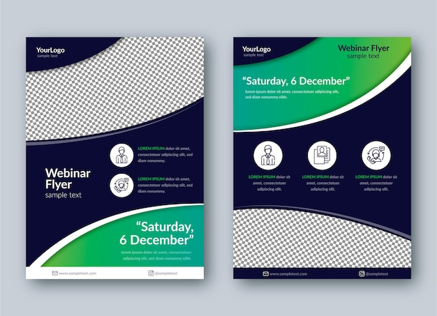 Transparent webinar flyer print template