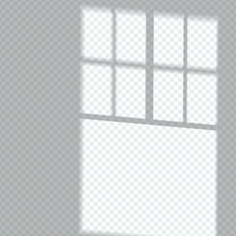 Transparent window shadow overlay effect