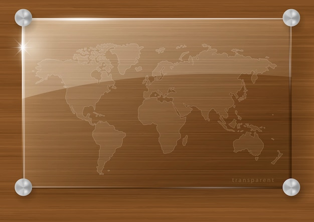 Transparent world map