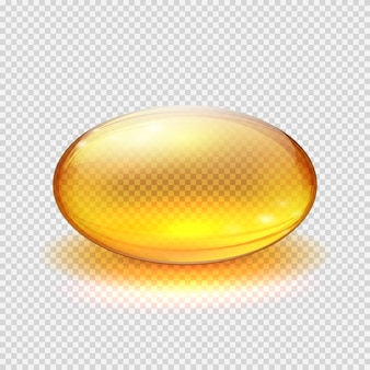 Transparent yellow capsule