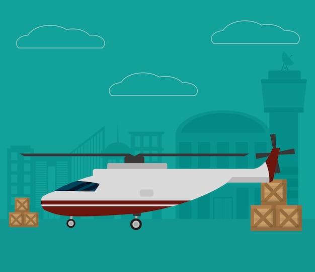 Авиационное обслуживание транспорта и логистики