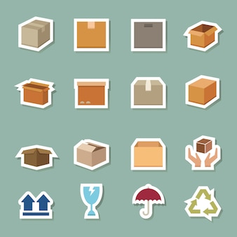 Transport box color icons