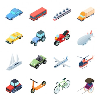 Transport  cartoon set icon. isolated cartoon set icon travel. illustration transport  .