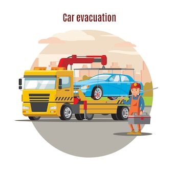Transport evacuation service template