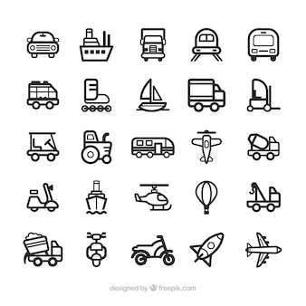 Транспорт иконки