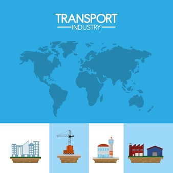 Transport industry around the world air service