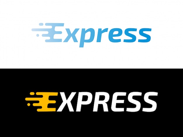 Transport logistic express delivery logo