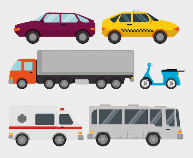 Transport logistic set vehicles