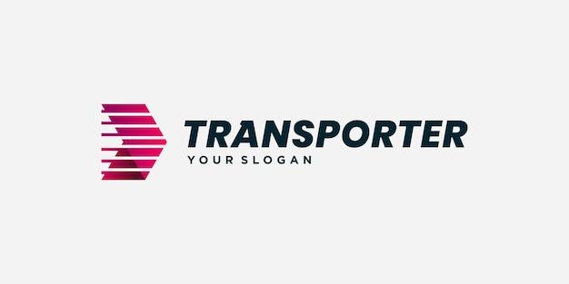 Транспортный логотип с современной и профессиональной концепцией premium векторы