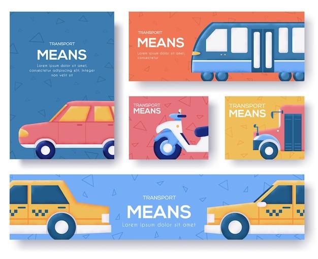 Транспорт означает набор баннеров