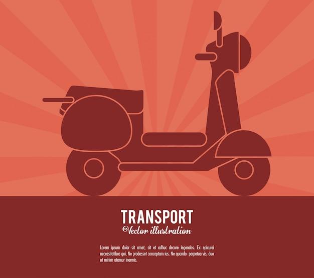 Transport scooter vehicle design