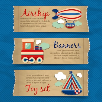 Transport toy banners template