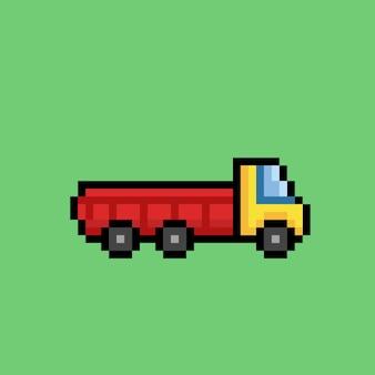 Транспортный грузовик в стиле пиксель-арт