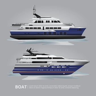 Transportation boat tourist yacht to travel