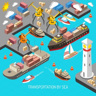 Transportation by sea concept