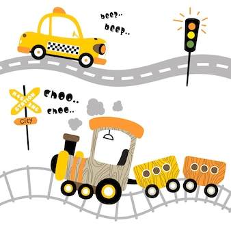 Transportation cartoon vector