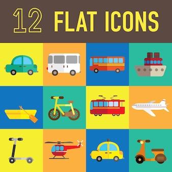 Transportation flat icon