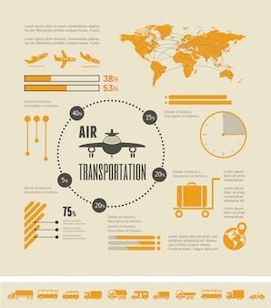 교통 인포 그래픽 요소.