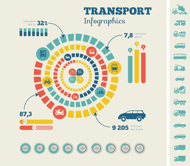 Transportation infographic template.