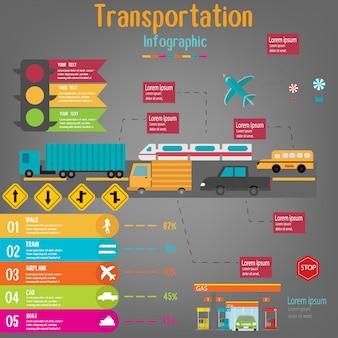 Transportation infographic.vector illustration.
