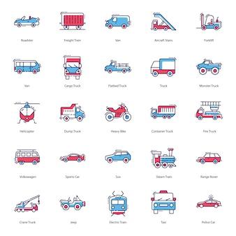 Transportation modes icons