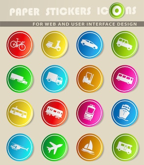 Transportation simply icons for web and user interface