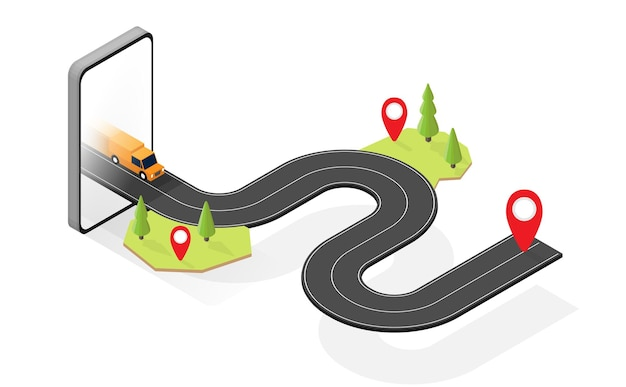Transportation tracking with gps graphic