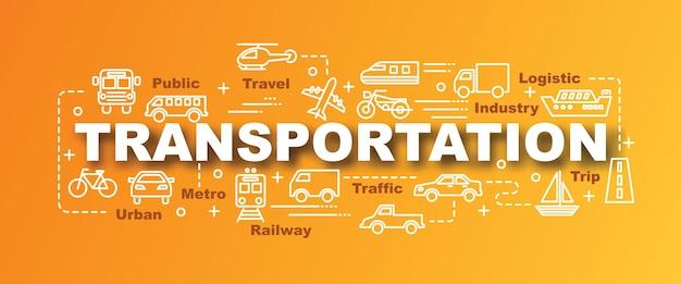Transportation vector trendy banner