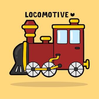 Transportation vehicle cartoon with vocabulary locomotive
