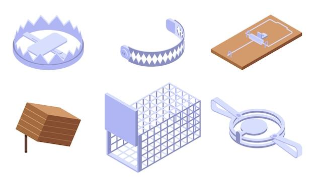 Trap icons set