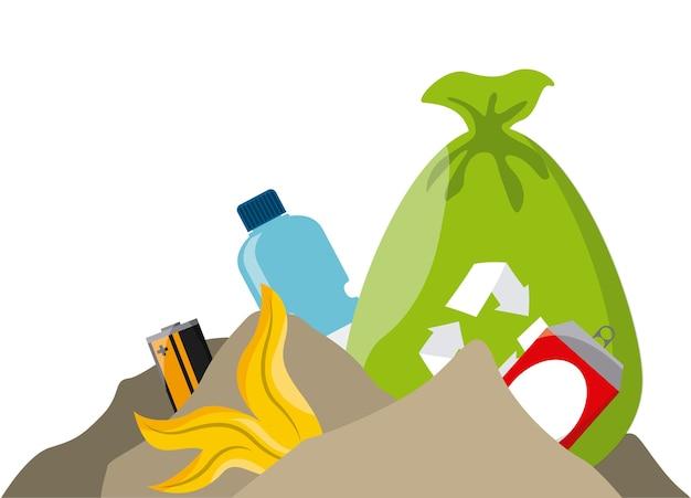 Trash bag and garbage waste