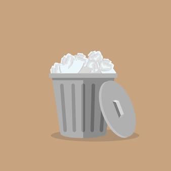 Trash bin garbage