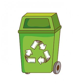 Trash bin icon.