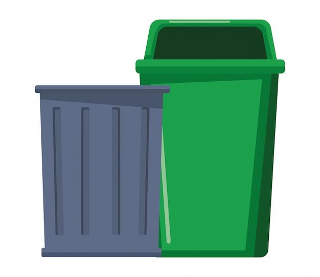 Trash garbage can icon cartoon