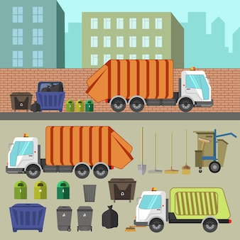 Trash recycling and removal.