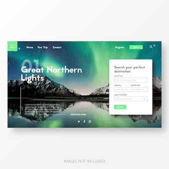 Travel and adventure landing page template