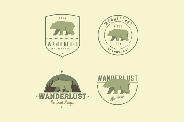 Travel adventure logos