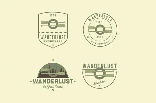 Travel adventure logos