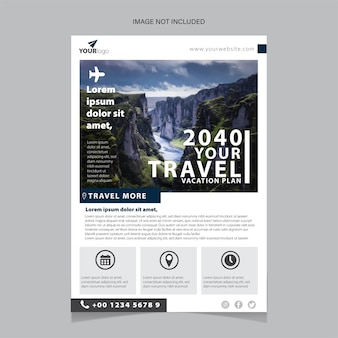 Travel agency advert design and touristic company flyer