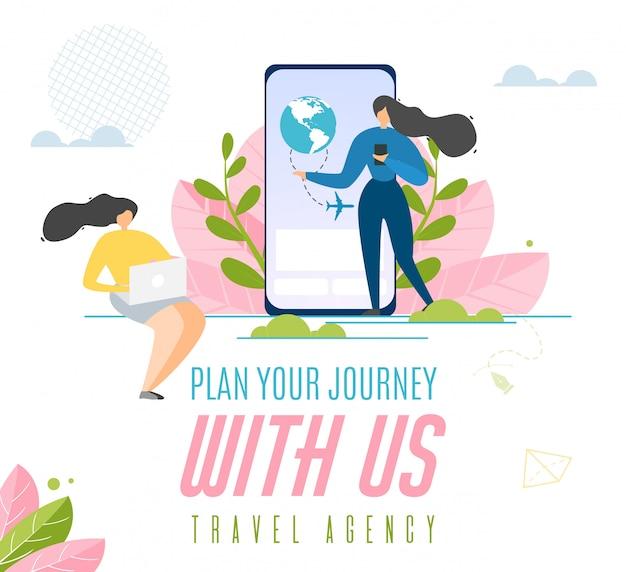 Travel agency advertising banner