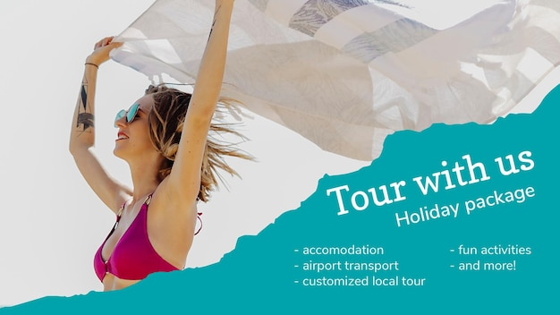 Illustrazione del modello di banner dell'agenzia di viaggi