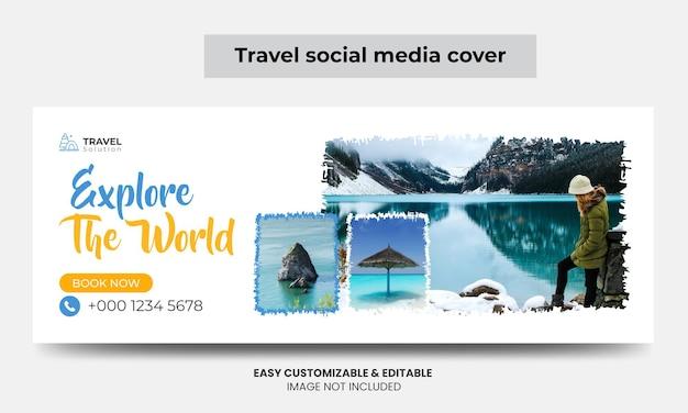 Travel agency facebook cover photo design tourism marketing social media cover