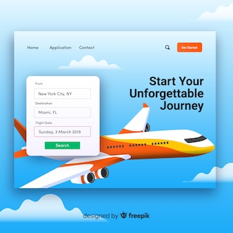 Travel agency landing page template Free Vector