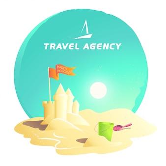 Travel agency logo .