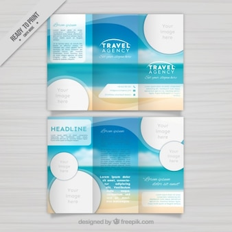 Travel agency trifold