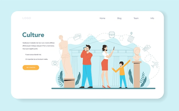 Travel agent web banner or landing page